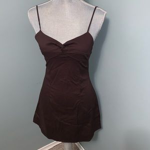 Charlotte Russe Brown Sun Dress size small